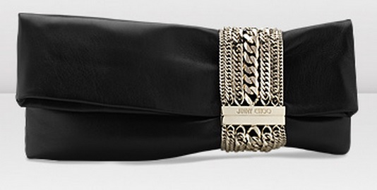 Jimmy Choo Chandra Biker Clutch Black