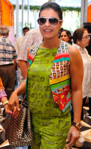 Kajol with Bottega Veneta Reflet Cabat