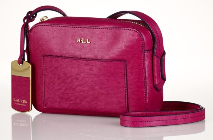 Ralph Lauren Tate Leather Mini Cross-Body