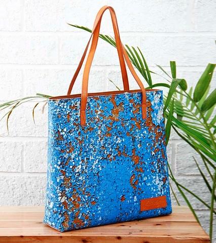 Eroded Wall Print Canvas Shopping Bag