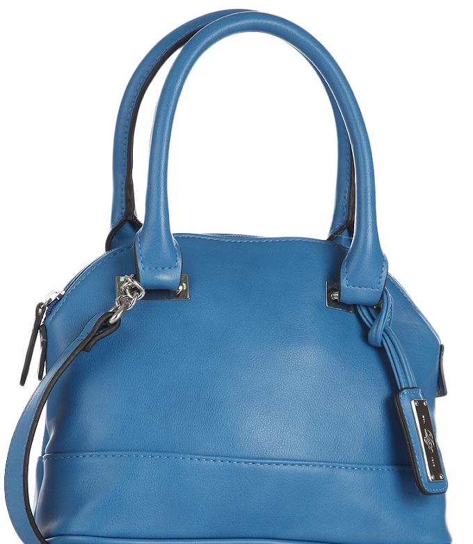 Dorothy Perkins Blue Mini Curve Bowler Bag
