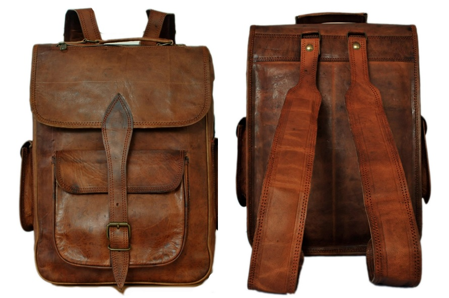 Rustic Town Laptop Backpack