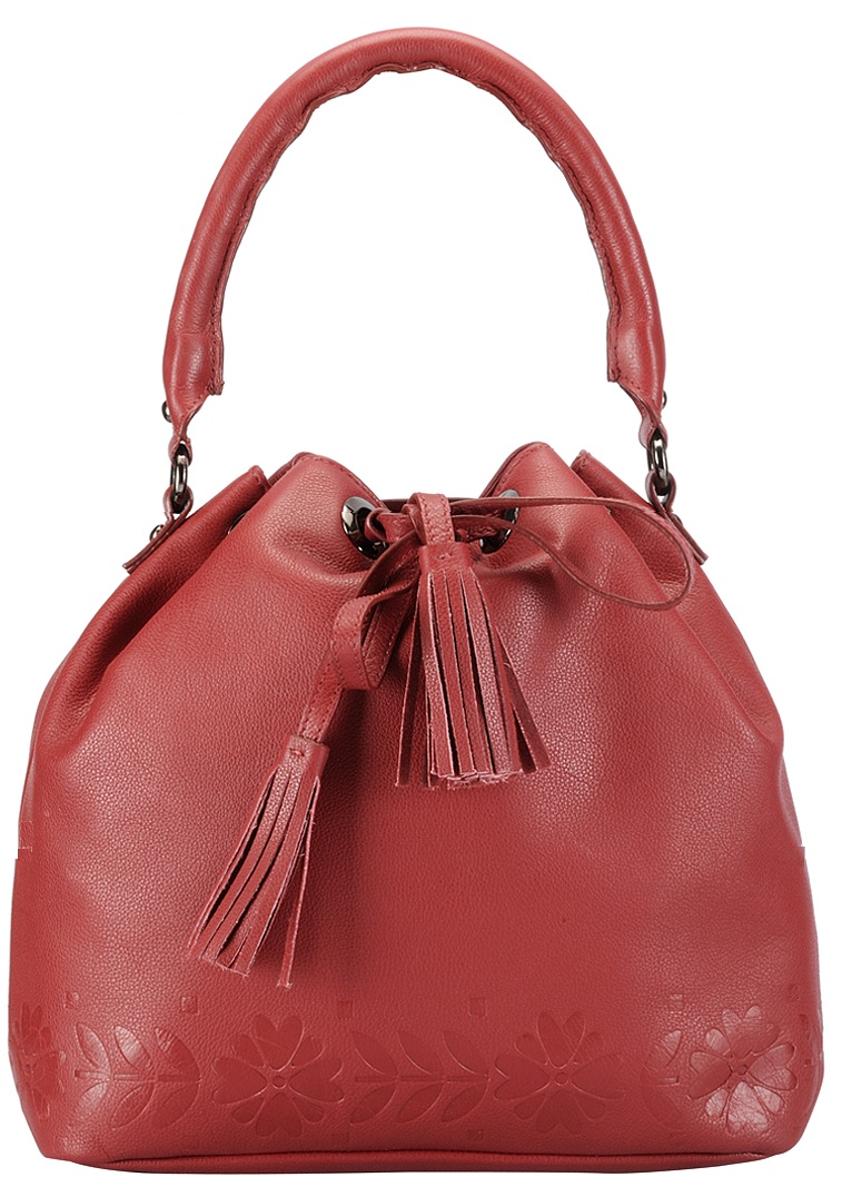 Phive Rivers Red Leather Bag