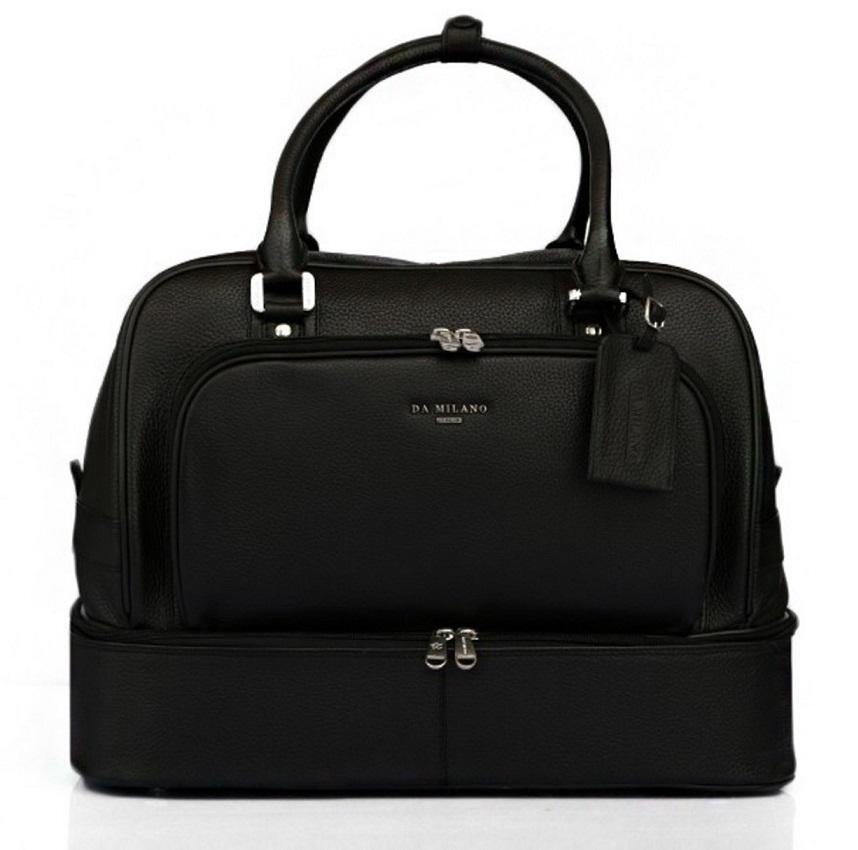 Da Milano Black Travel Bag