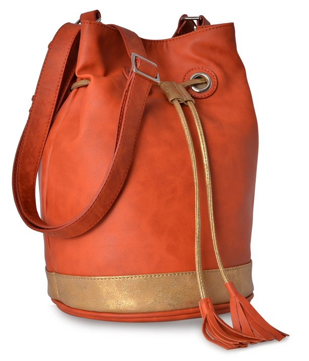 Baggit Orange Bucket Bag