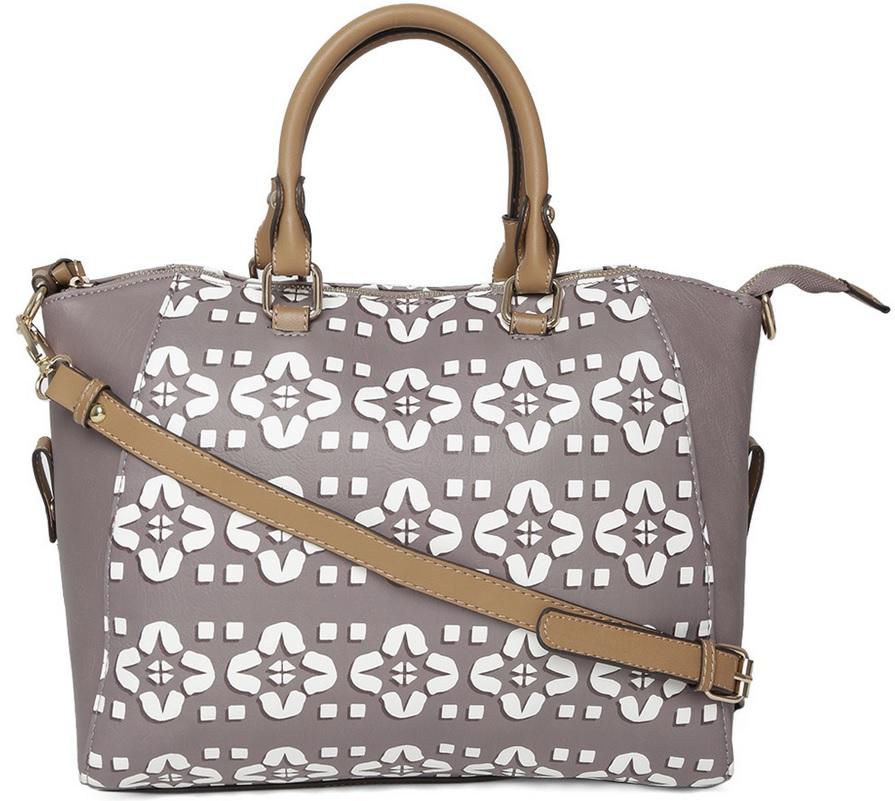 Parfois Taupe Printed Handbag