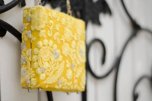 Ank Yellow Box Clutch