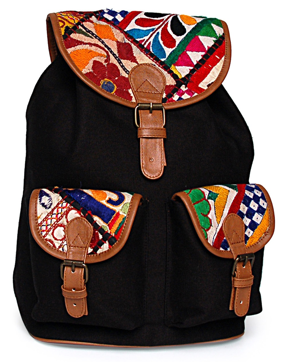 Limeroad Embroidered Flap Backpack