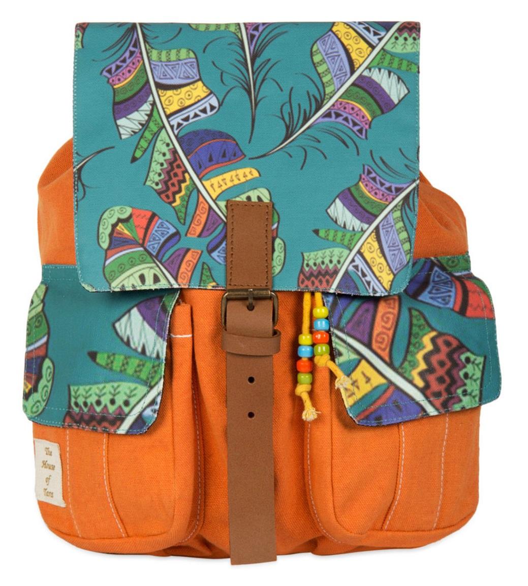 Limeroad Orange-Teal Backpack