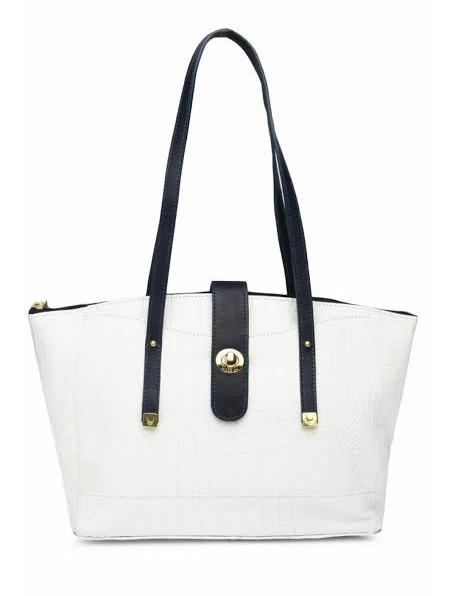 Hidesign White Leather Shoulder Handbag Bagslounge Myntra