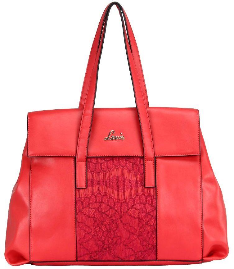 BagsLounge Lavie Parthena Med Tote Red-Black
