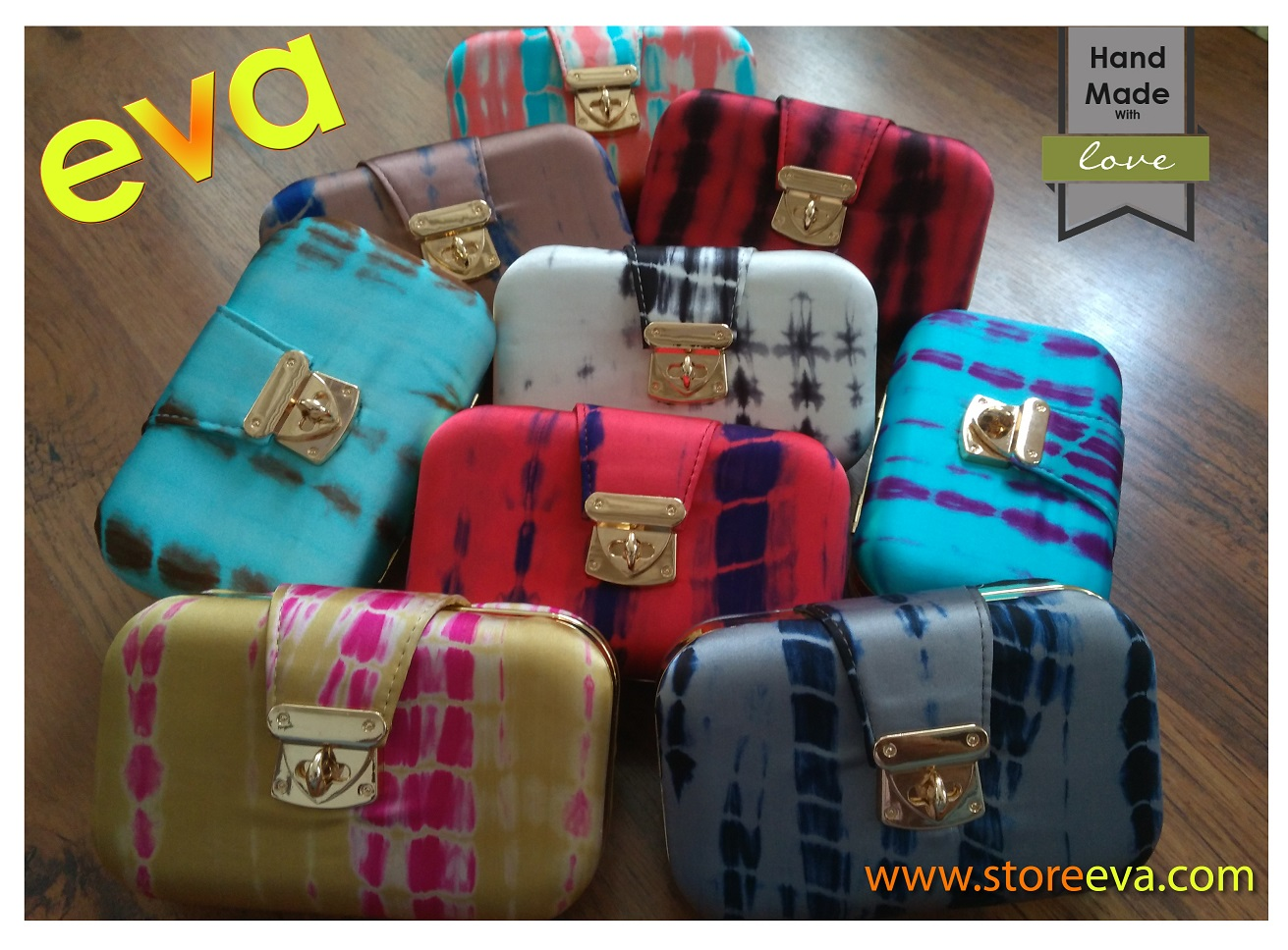 Store Eva Tie-and-Dye Clutches