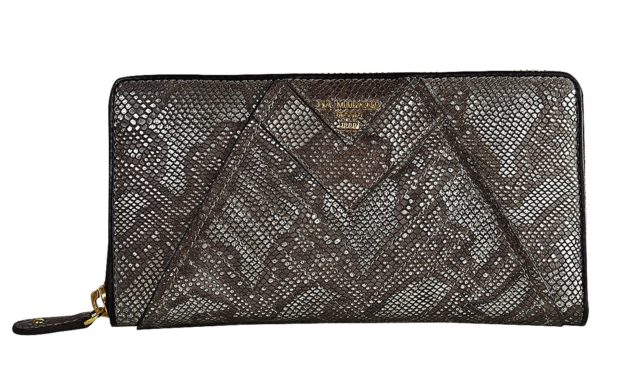 Da Milano Metallic Leather Wallet