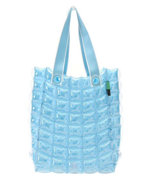 Inflat Decor Blue Bubble Long Bag