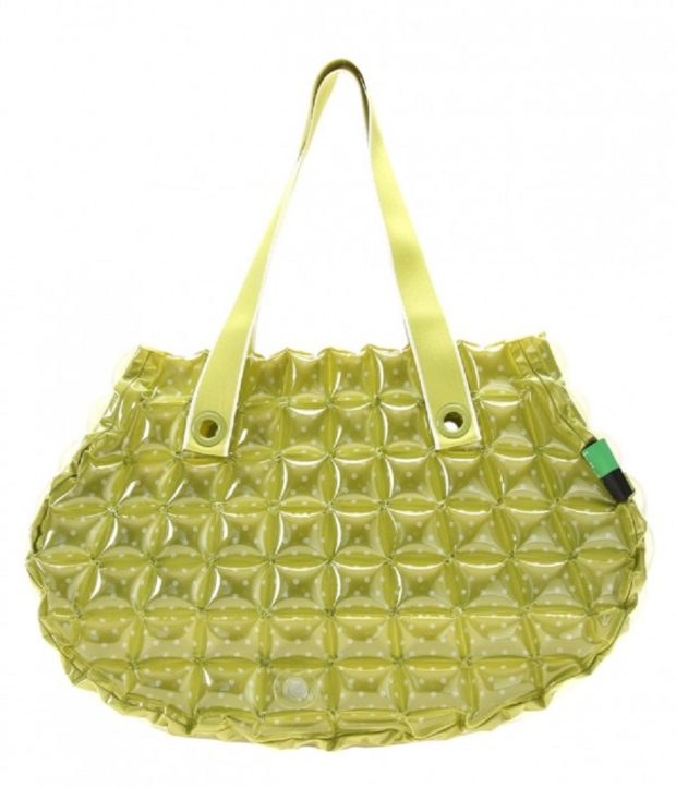 Inflat Decor Green Bubble Shell Bag