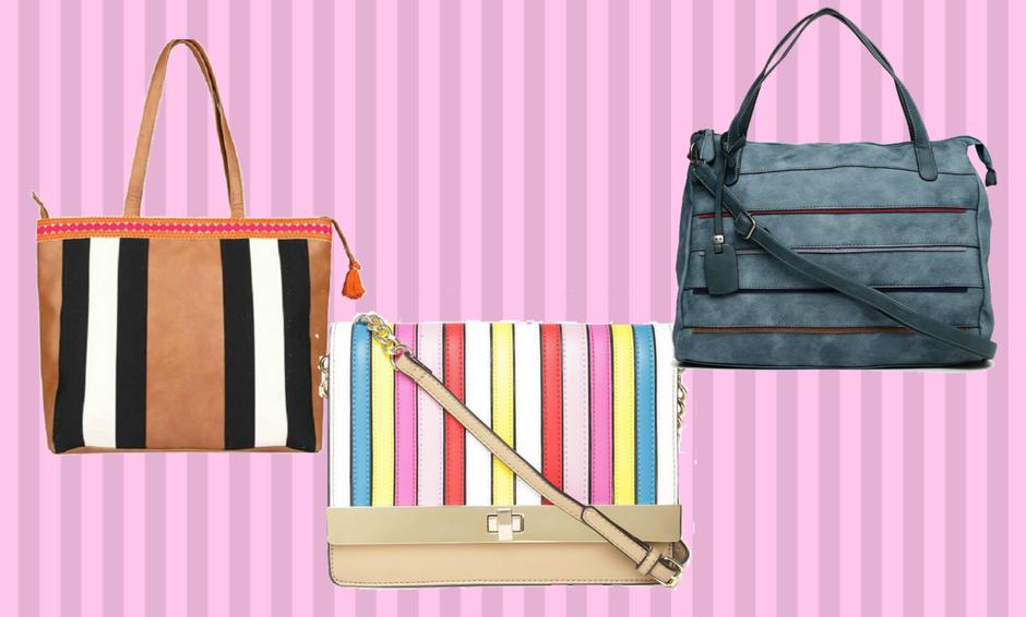 Striped Handbags