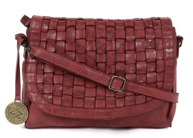 KOMPANERO Red Leather Sling Bag