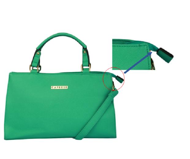 Handbag With Gap Under Main Zip