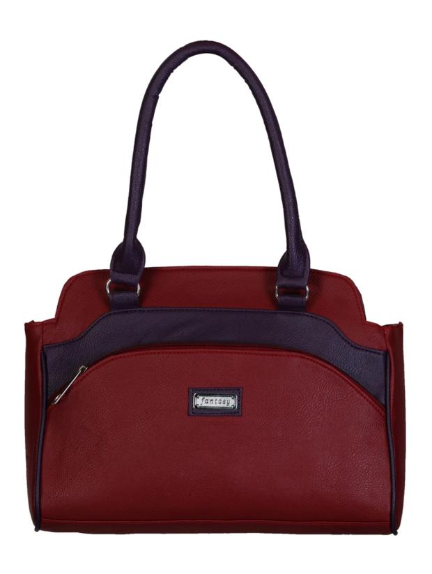 Handbag With Rolled Handles