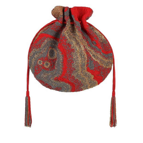 LovetoBag Gemstone Potli Crimson Red